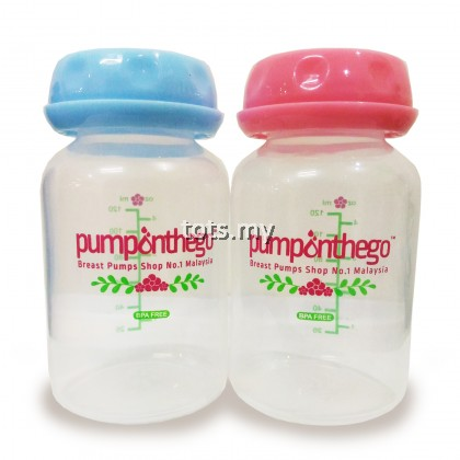 PUMP ON THE GO (POTG) BREASTMILK STORAGE BOTTLE 4 OZ - STANDARD NECK