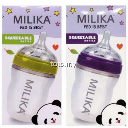 MILIKA SQUEEZABLE FEEDING BOTTLE 6OZ