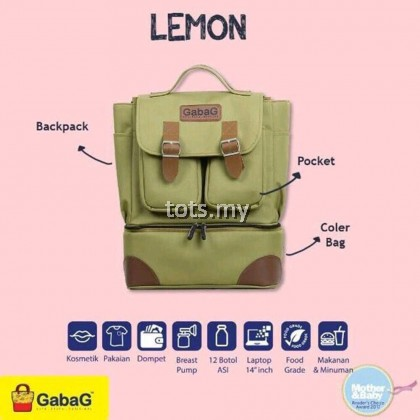 GABAG BACKPACK SERIES - LEMON