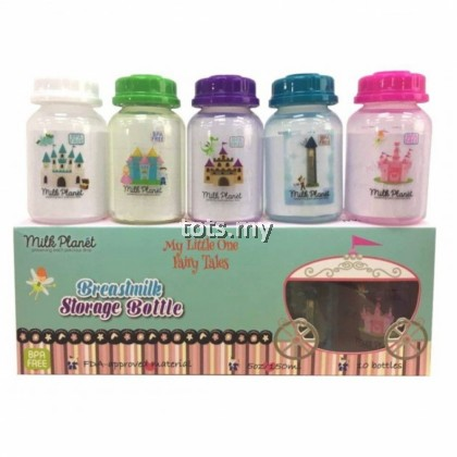 MILK PLANET BREASTMILK STORAGE BOTTLE 5 OZ - STANDARD NECK (1 BOX/10 PCS) : MY LITTLE ONE