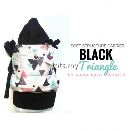 NANA BABY CARRIER STANDARD SIZE - BLACK TRIANGLE