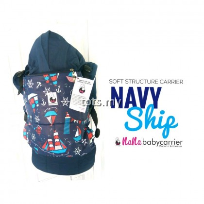 NANA BABY CARRIER STANDARD SIZE - NAVY SHIP