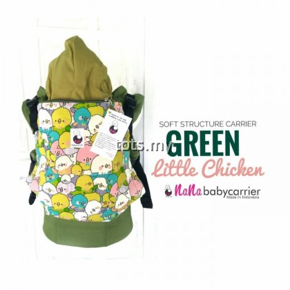 NANA BABY CARRIER STANDARD SIZE - GREEN LITTLE CHICKEN
