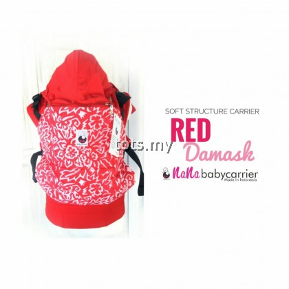 NANA BABY CARRIER STANDARD SIZE - RED DAMASK