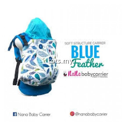 NANA BABY CARRIER STANDARD SIZE - BLUE FEATHER