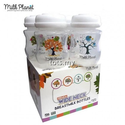 MILK PLANET SPECIAL EDITION BREASTMILK STORAGE BOTTLE 5 OZ (1 BOX/4 PCS) - WIDENECK : 4 SEASON