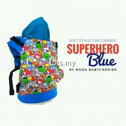 NANA BABY CARRIER STANDARD SIZE - SUPERHERO BLUE