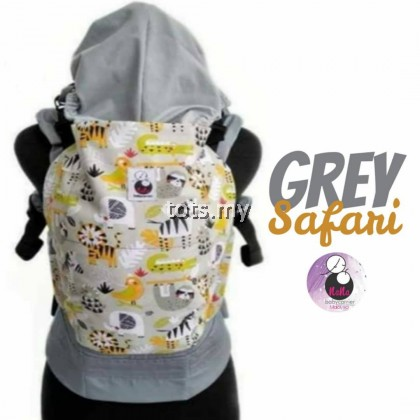 NANA BABY CARRIER STANDARD SIZE - GREY SAFARI