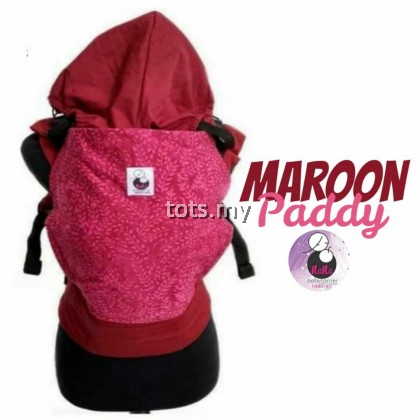 NANA BABY CARRIER STANDARD SIZE - MAROON PADDY
