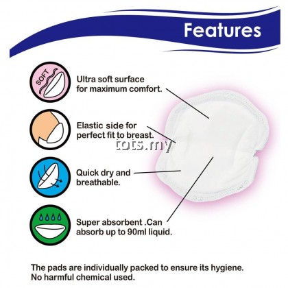 PUMP ON THE GO (POTG) SOFT TOUCH DISPOSABLE BREAST PAD (36PCS)
